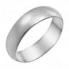 Обручальное кольцо Классика серебряное