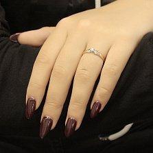 Золотое кольцо с бриллиантом Соледад