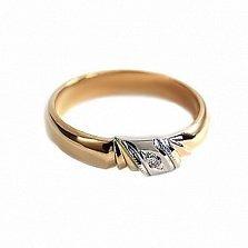 Золотое кольцо с бриллиантом Магия любви