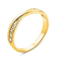 Кольцо из желтого золота с фианитами 000124391