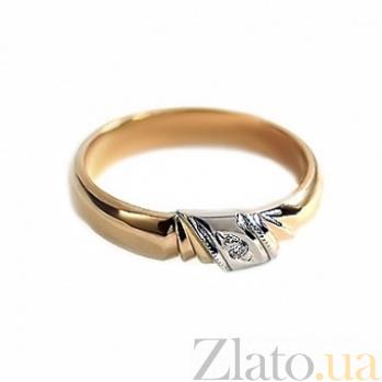 Золотое кольцо с бриллиантом Магия любви SG--17051003