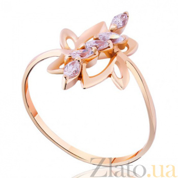Золотое кольцо с фианитами Генриетта EDM--КД0319