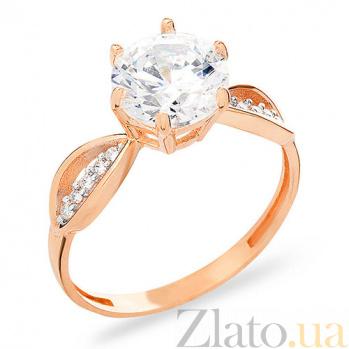 Золотое кольцо с фианитами Альма SUF--153097