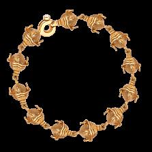 Золотой браслет Дух предков в желтом цвете металла