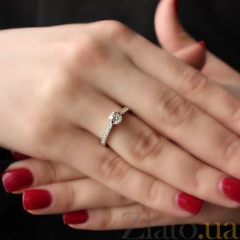 Золотое кольцо Альвина с бриллиантами 000045912