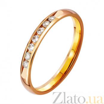Золотое обручальное кольцо Романс с фианитами TRF--412823