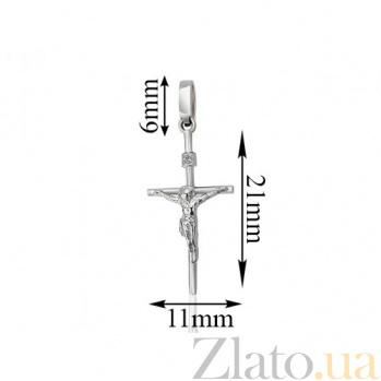 Крест из белого золота Сияние EDM--КР7152/1