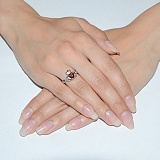Серебряное обручальное кольцо Кладдахское кольцо
