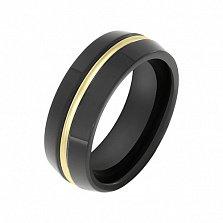 Кольцо в желтом золоте Александра с керамикой