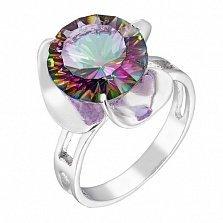 Серебряное кольцо Блиц с мистик кварцем