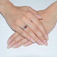 Серебряное кольцо Кладдахское с гранатом