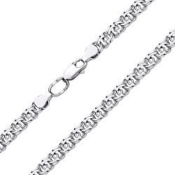 Серебряный браслет в плетении арабский бисмарк, 10 мм 000130397