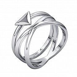 Серебряное двойное кольцо Джейн и Триона (набор из двух колец)