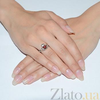 Серебряное кольцо Кладдахское с гранатом KLD05