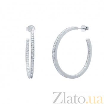 Серебряные серьги-кольца Дели AQA--JDE-103