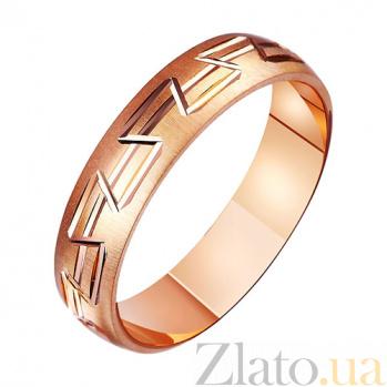 Золотое обручальное кольцо Богиня любви TRF--411175