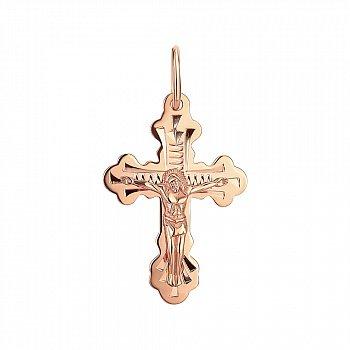 Крестик из красного золота 000141662