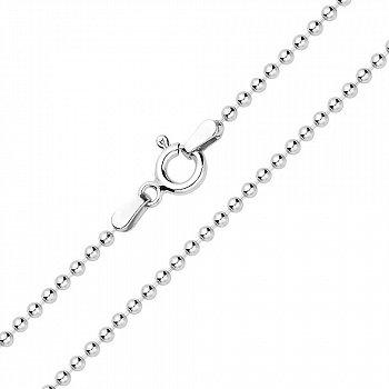Срібний ланцюжок в плетінні Кульки 000131692