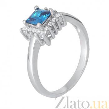 Серебряное кольцо с голубым фианитом Эстер 000028342
