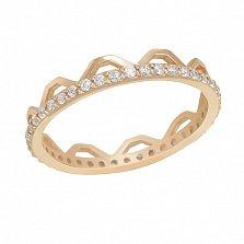 Золотое кольцо с фианитами Чезена