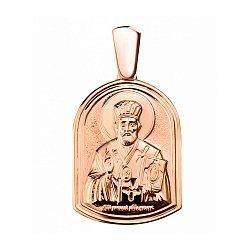 Ладанка Святой защитник в красном золоте