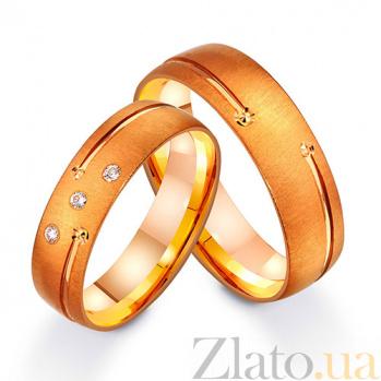 Золотое обручальное кольцо Мое страстное желание с фианитами TRF--412313