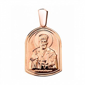 Ладанка Святой защитник в красном золоте 000046158