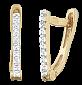Позолоченные сережки из серебра с цирконием Иветта SLX--С3Ф/158