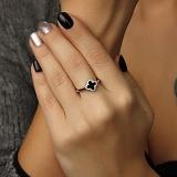 Серебряное кольцо Диана с фианитами в стиле Ван Клиф