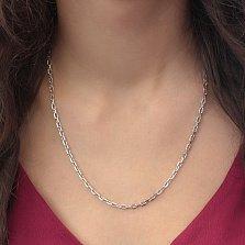 Серебряная родированная цепь Образ в классическом якорном плетении, 3,5мм