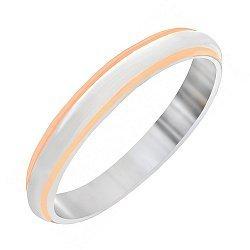 Кольцо из серебра Священные слова с частичной позолотой 000030902