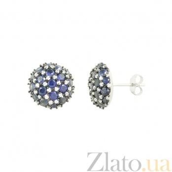 Серебрянные серьги Магия 3С291-0013