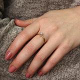 Золотое кольцо Фарго в евро цвете с бриллиантами