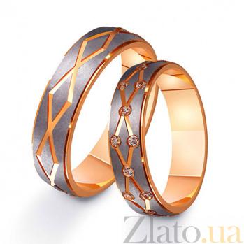 Золотое обручальное кольцо Страстное танго TRF--411216