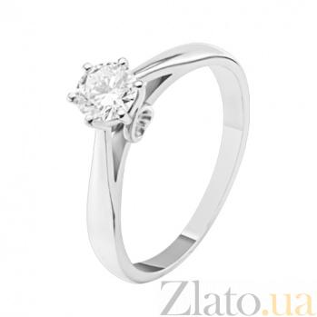 Кольцо из белого золота с бриллиантом Чистый свет KBL--К1766/бел/брил