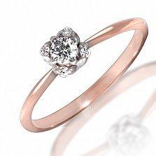 Кольцо из красного золота Ширли с бриллиантами