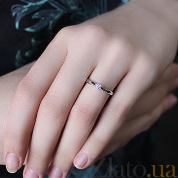 Кольцо из белого золота с цирконием Паулина TRF--1221028