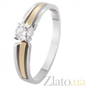 Золотое кольцо с бриллиантом Маргарита KBL--К1928/комб/брил