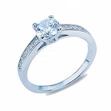 Серебряное кольцо с фианитами Бонита