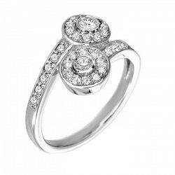Кольцо в белом золоте Шарлотта с бриллиантами