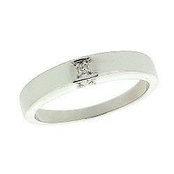 Серебряное кольцо с бриллиантами 000022196
