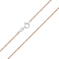 Серебряный браслет Дижон с позолотой, 1 мм 000025971