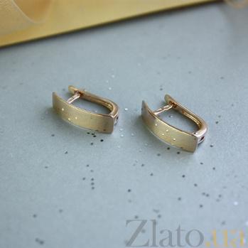 Золотые серьги Нью-Йорк SUF--110460