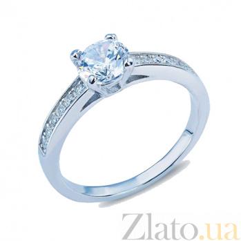 Серебряное кольцо с фианитами Бонита AQA--JR-3137