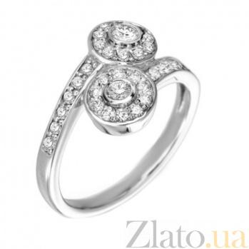 Кольцо в белом золоте Шарлотта с бриллиантами 000079253