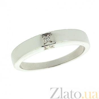 Серебряное кольцо с бриллиантом Панайота 000022196