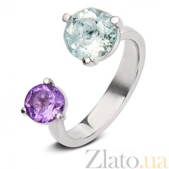 Серебряное кольцо Акварель 68-АПр