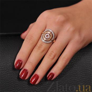 Золотое кольцо с цирконием Алессия EDM--КД0337