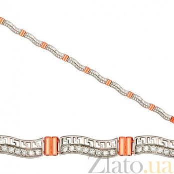 Золотой браслет Каллифея с фианитами VLT--Е513