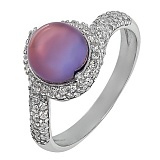 Серебряное кольцо Ляфими с черным жемчугом